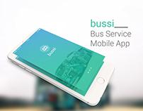 bussi - Bus Service Mobile App Concept