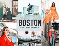Free Boston Mobile & Desktop Lightroom Presets