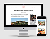 Travel Blog Theme Design
