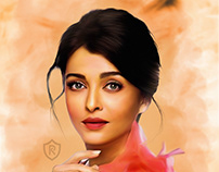 Digital Painting Aishwarya Rai
