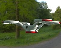 Quadrocopter explosion shot