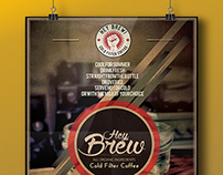 HEY BREW POSTER DESIGN