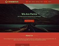 Parina-One Page Creative Web template