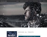 Sitio web del cantante Rovalher.