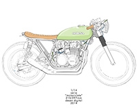 G A R A G E - Cafe Racer Colouring Book