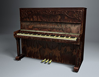 Piano 3D modeling for video games