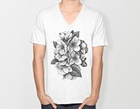 Engraved Vintage V-Neck T-Shirts