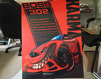 BOSS 302 Car Show Board Designs