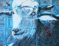 Mural painting - goat