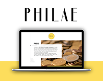 Philae ~ Website concept