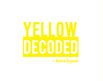 COLOR STUDY | YELLOW