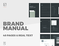 Brand Manual - The dark one.