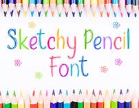 Sketchy Pencil Font