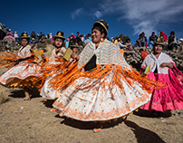 Annual Fiesta near Lake Titicaca, Peru.