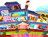 Children's show background designs