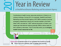 HealthForceOntario Year In Review, Web & Email Graphics