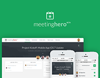 MeetingHero Responsive App Design