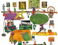 Cover illustration culture section Nederlands Dagblad