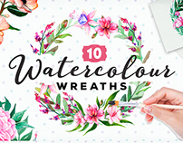 Handpainted Watercolour Wreaths