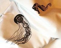 Jellyfish and Seahorse retro 50's stye skirts