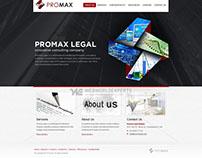 Promax Legal - Custom Web Design