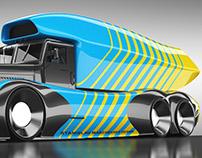 Ukrainian style racing truck