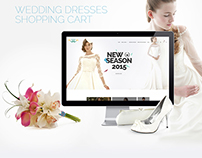Wedding Dresses - Ecommerce PSD Free Template