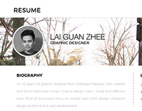 RESUME with idea of web design