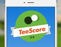 Mobile App UI Design: TeeScore (Ver. 4)