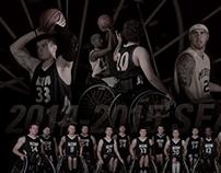 2014-2015 Mizzou Wheelchair Basketball Season Materials