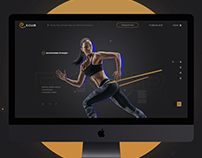 E.Club corporate website for fitness — UI/UX — Identity