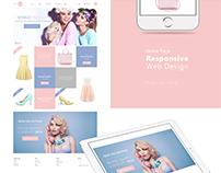 Web design | Shop | Rose Quartz & Serenity Color 2016