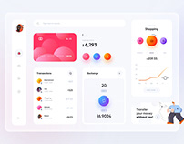 Mobile banking system dashboard