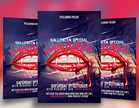 Vampires Halloween Flyer Template Download Vol - 8