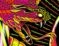 Primus Gig Poster: Blacklight Screen Print