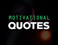 Motivational Quotes ui Design