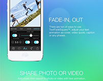 Fade app design