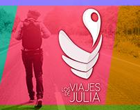 Los Viajes de Julia - Identidad corporativa