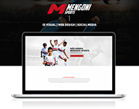 Mengoni Sports - ID Visual, Web Design e Social Media