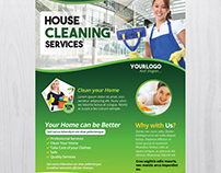 Cleaning Services - Free PSD Flyer Template