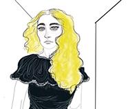 Black velvet dress...