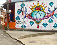Mural para @helenaadentro en Filandia Quindío