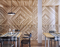 Nice Wood Cafe Design