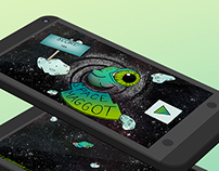 Space Maggot (Illustrated Game App for Android)