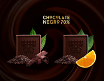 Packaging redesign - Oxfam Intermón chocolates