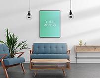 Free Interior Poster Mockup Nr. 5