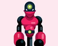 Flat Design Cartoon Character