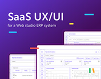 UX/UI for Web studio ERP SaaS