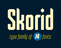 Skorid font family - introductory offer -80%