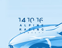 COMING SOON... Alpine Racing Concept | by Tony Chen